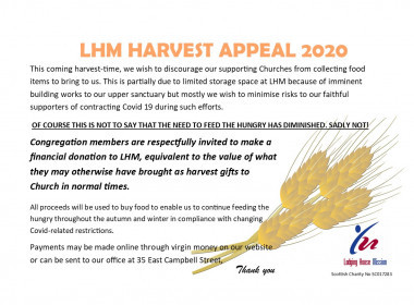 Lodging House Mission Harvest Appeal